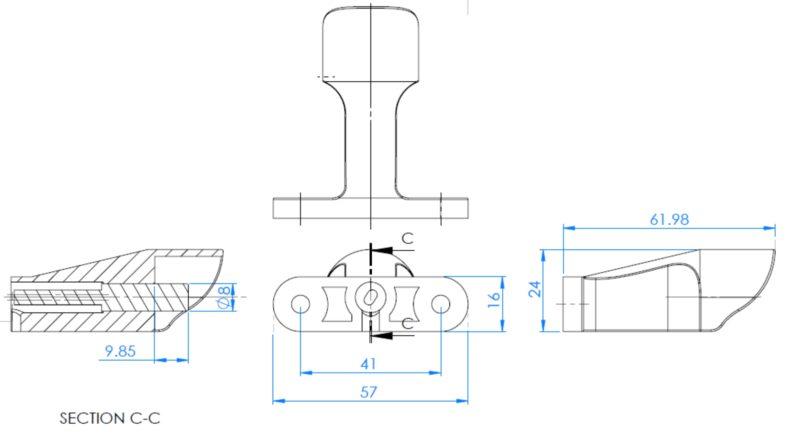 outdoor air temperature sensor  overmolded