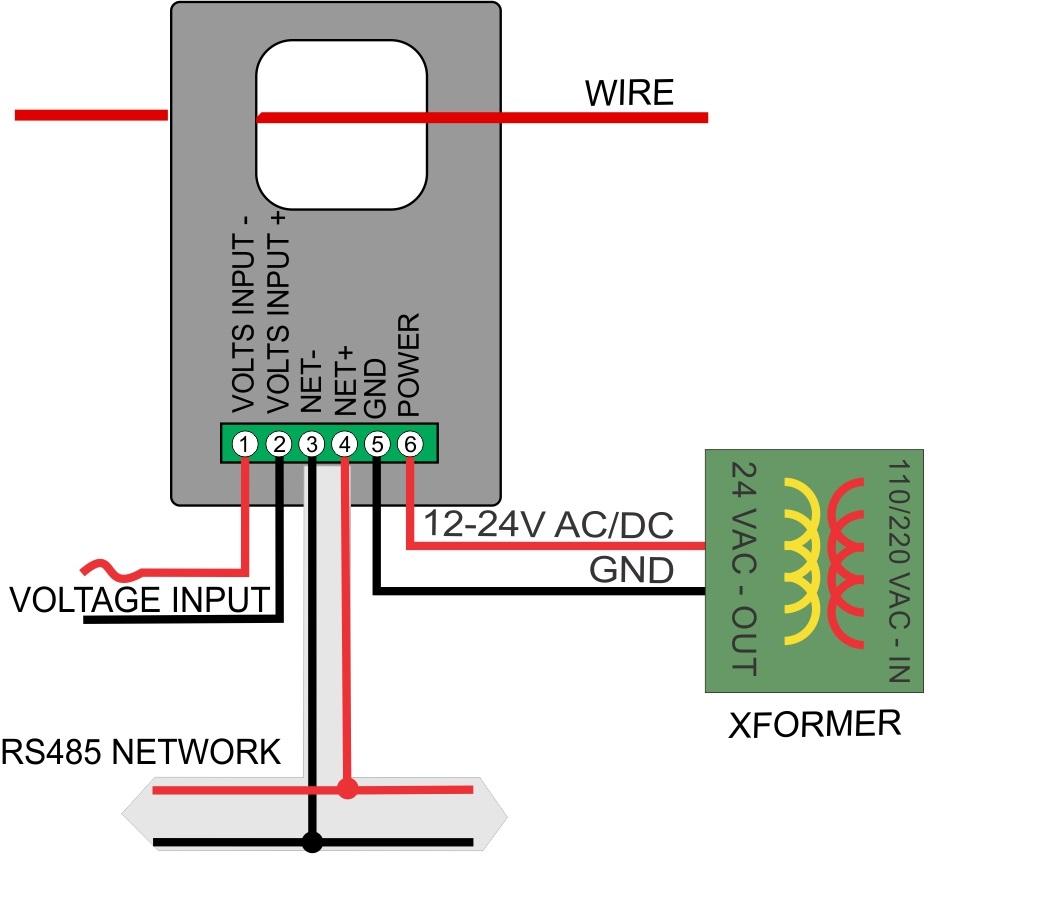 Single Phase Power : Single phase power meter with internal ct bravo controls