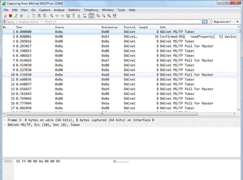 Troubleshooting Bacnet MSTP traffic with Wireshark - Bravo Controls